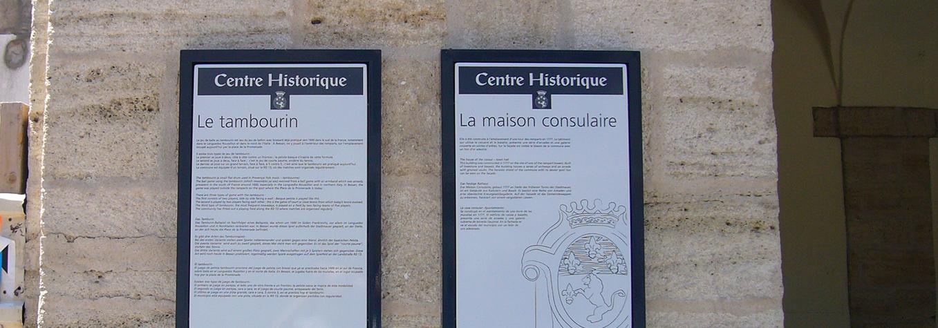 signalétique patrimoine Hérault